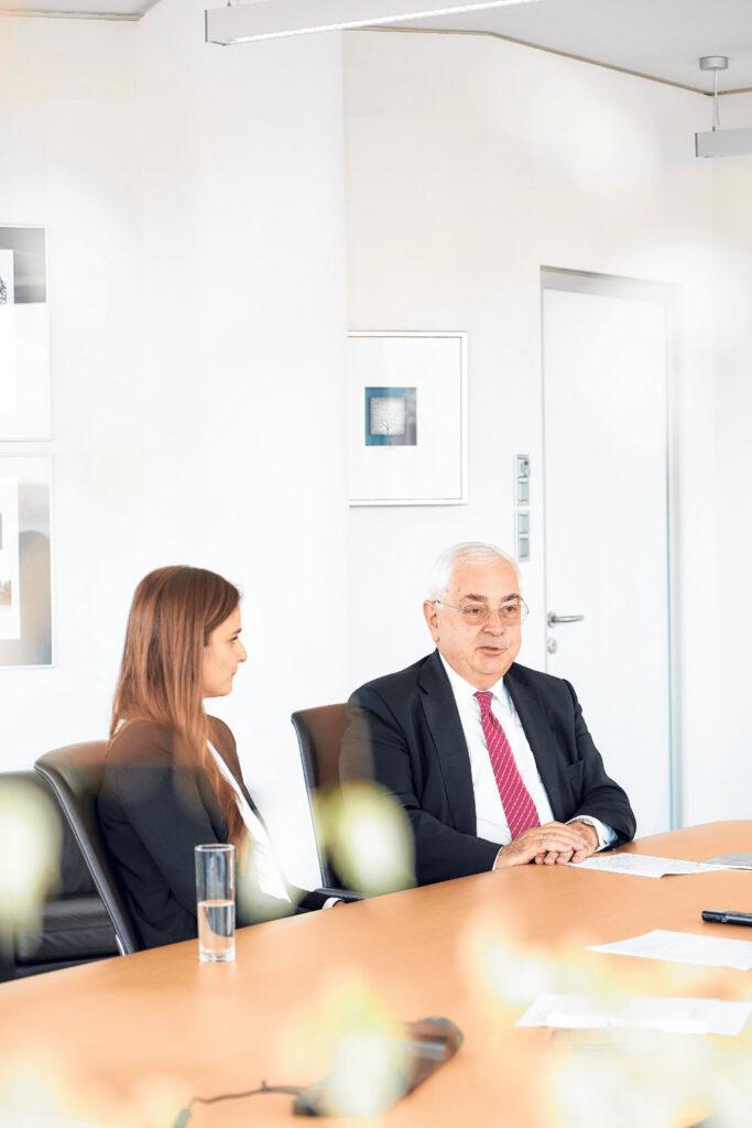 Lisa Spöck und Walter Rothensteiner im Gespräch