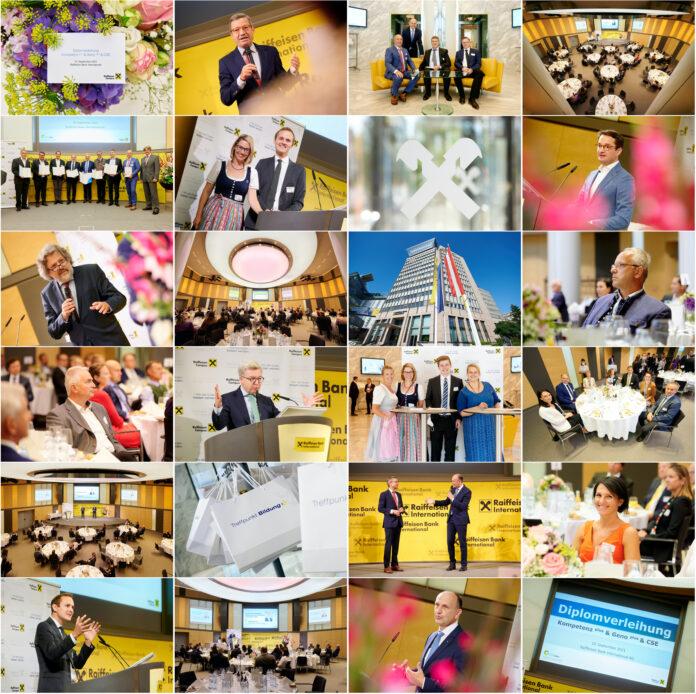 Collage mit Eindrücken der Diplomverleihung des Raiffeisen Campus 2021