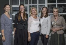 """Über den gelungenen Auftakt zu """"Treffpunkt:Amalie"""" freuen sich Anna Doblhofer-Bachleitner, Elisabeth Bachleitner, Margareta Weiglmeier-Frauenschuh, Barbara Fahrner und Gabriele Bürgler."""